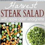 Easy Harvest Steak Salad with a Homemade Apple Cider Vinaigrette