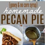 A collage of Pecan Pie pictures.