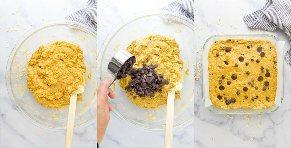 how to make oatmeal pumpkin bars with chocolate