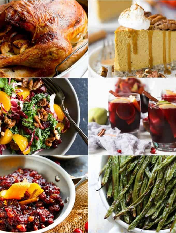 64 of the BEST Thanksgiving Recipes to ensure you have the ULTIMATE and most flavorful Turkey Day feast around! From how to brine a turkey, to holiday cocktails, healthy side dishes, homemade rolls and sweet desserts - everything you need!