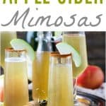 Apple Cider Mimosas | Apple Cider Cocktail Recipe for the Holidays!