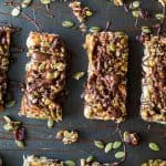 Cranberry Almond Homemade Granola Bars