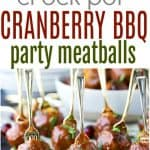Slow Cooker Cranberry BBQ Meatballs