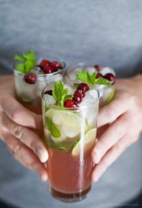 Image of Fresh Cranberry Mojitos