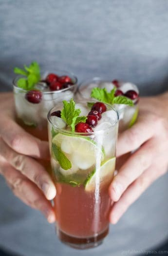 fresh cranberry mojito recipe