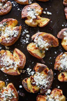 Image of Garlic Herb Smashed Potatoes