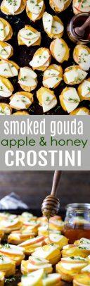 Smoked Gouda Apple Crostini with Honey Drizzle