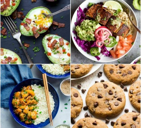 50 of the BEST Healthy Recipes you NEED to make in 2018 - recipes for breakfast, lunch, dinner and dessert. Filled with gluten free recipes, paleo, whole30, vegetarian ... but all absolutely freakin delicious!