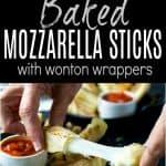 Skinny Baked Mozzarella Sticks