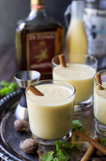 Image of Glasses of Holiday Spiked Eggnog