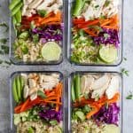 Thai Chicken Grain Bowl with Peanut Dressing