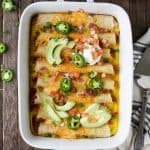 Image of Overnight Breakfast Enchiladas in a Pan