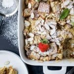 Overnight Chai Eggnog French Toast Casserole