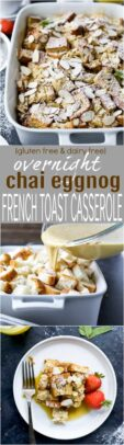 Overnight Chai Eggnog French Toast Casserole   Christmas Brunch Idea