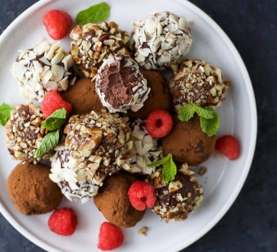 Image of Paleo Raspberry Chocolate Truffles