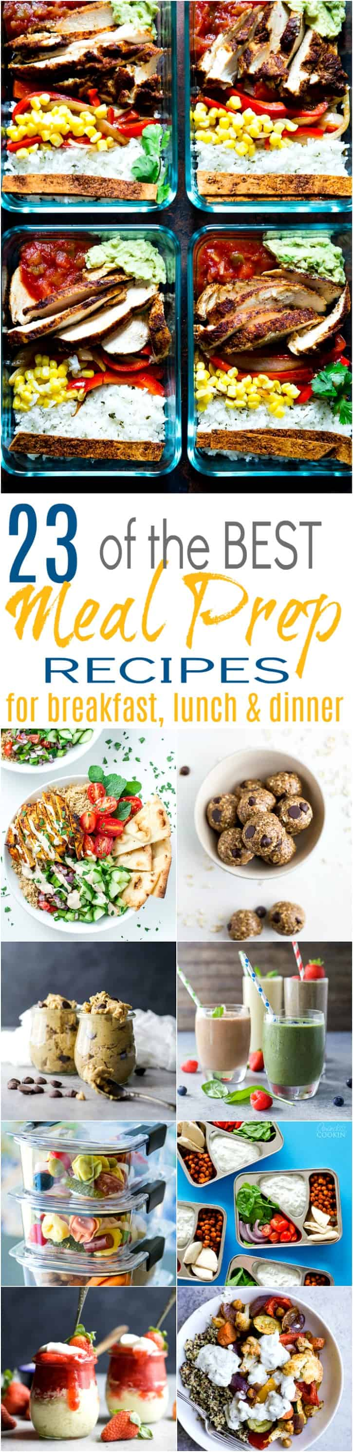 23 Of The Best Meal Prep Recipes For Breakfast Lunch Dinner Easy