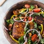 BLT Salmon Salad with Creamy Avocado Dressing - web-3