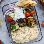 Gyro Turkey Meatball Bowls with Tzatziki - web-5