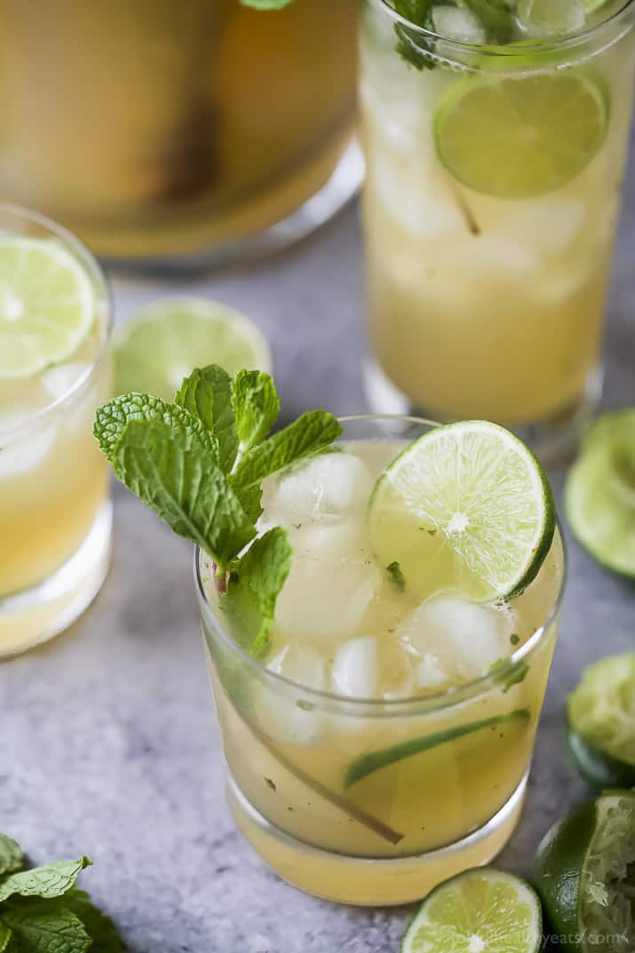 This Classic Mojito Recipe made in a pitcher will be the hit of the party! It'seasy, light and super refreshing for the summer!