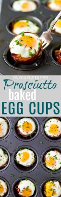 Prosciutto Baked Egg Cups | Easy Make Ahead Breakfast Idea