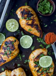Juicy Thai Curry Grilled Chicken marinaded in a creamy curry coconut sauce then grilled to perfection! This thai chicken will be the star of your dinner table this summer!  #glutenfree