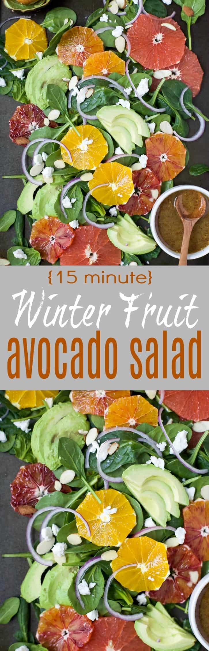 Winter Fruit Avocado Salad