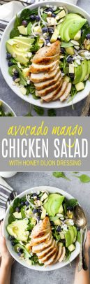 Grilled Avocado Mango Chicken Salad Recipe | Healthy Lunch Ideas