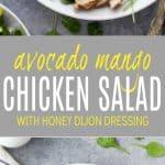 Grilled Avocado Mango Chicken Salad Recipe | Healthy Lunch Ideas