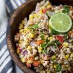 Charred Corn Red Pepper Farro Salad - web-6