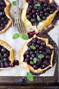 Fresh Mini Blueberry Galettes Image