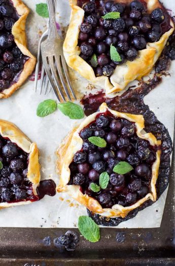 Fresh Mini Blueberry Galettes Image