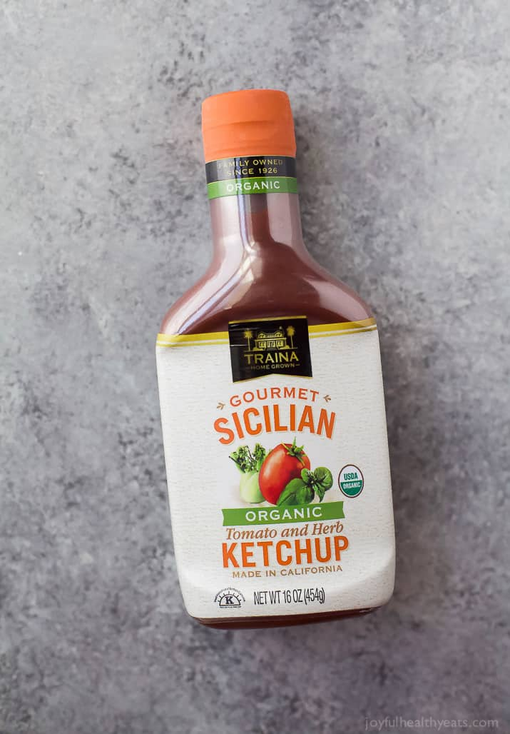 A bottle of Traina Gourmet Sicilian Ketchup