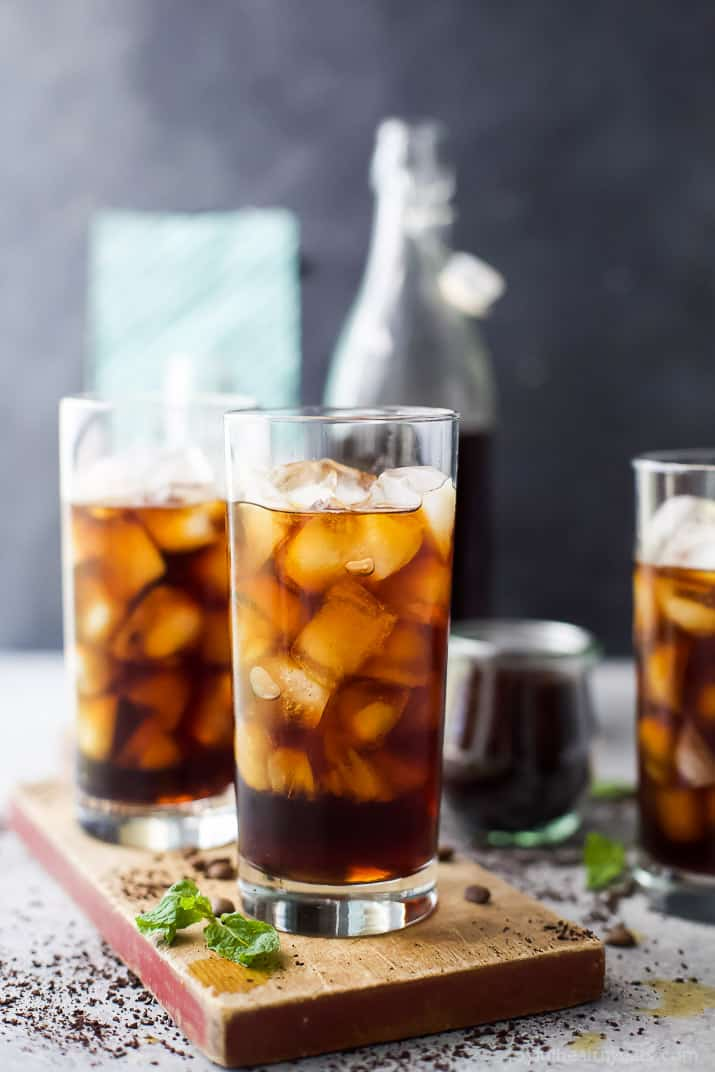 How to make the BEST Iced Coffee Cold Brew with a Sweet Cream finish. It's the perfect refreshing drink for the summer and a great start to your day!