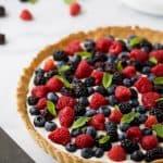 Berry Tart with Almond Crust