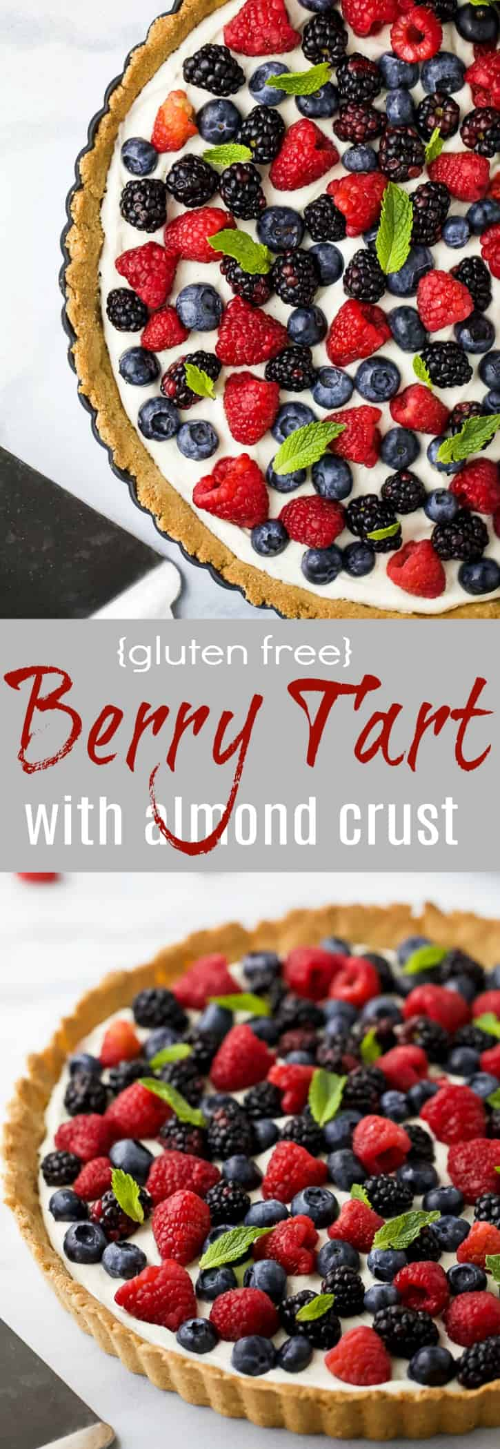 Title Image for Gluten Free Berry Tart with Almond Crust
