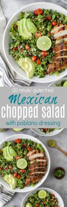 Mexican Chopped Salad with grilled chicken photo collage