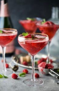 Image of Raspberry Sorbet Rosé Floats