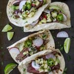Steak Tacos with Radish Pineapple Salsa