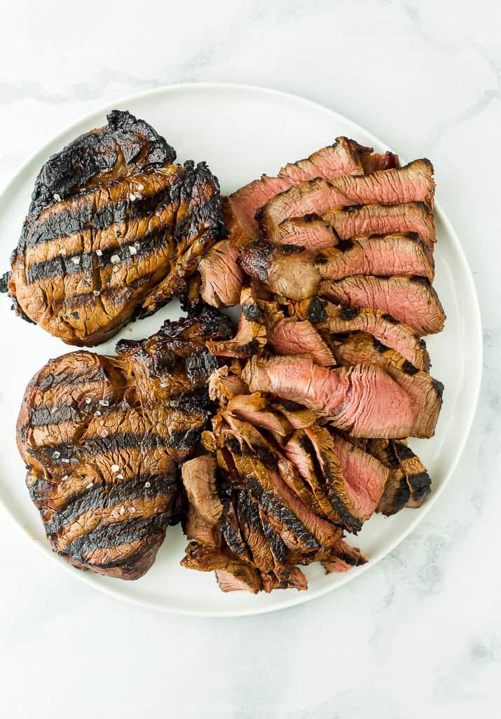 sliced grilled steak for steak tacos