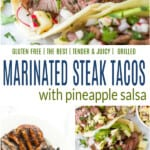 pinterest collage for best steak tacos