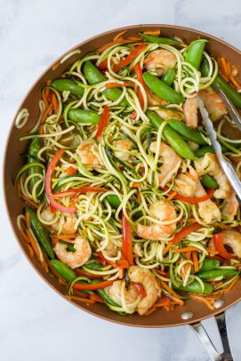 shrimp stir fry with zucchini noodles
