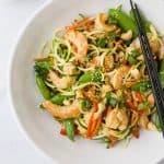 Shrimp Stir Fry with Zucchini Noodles-4