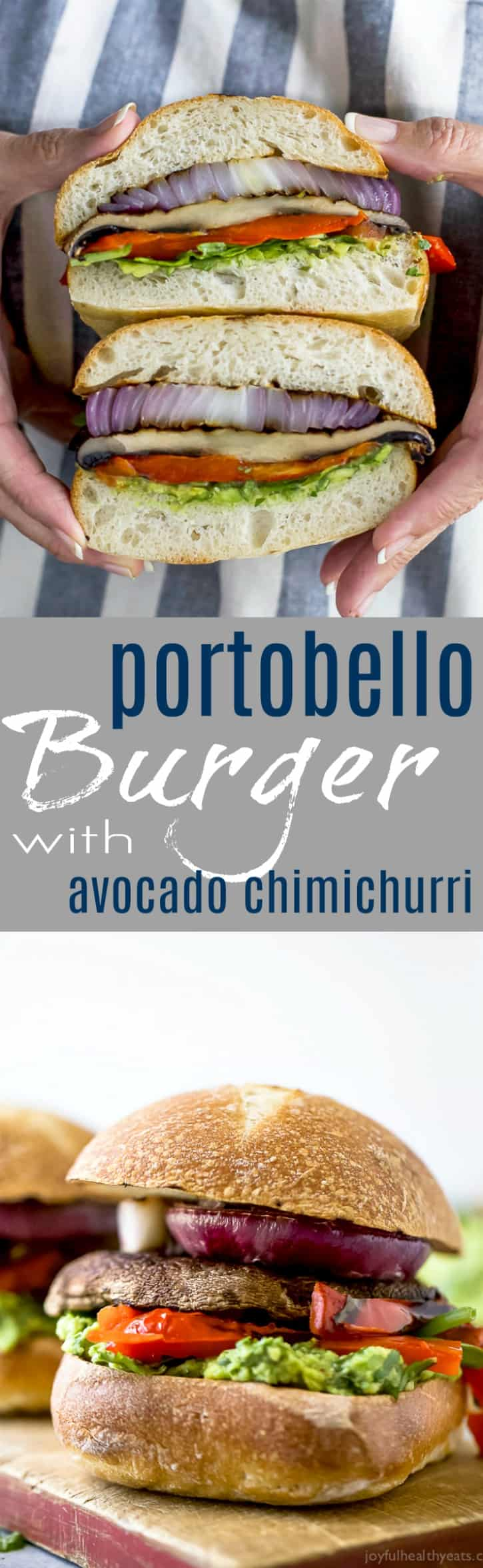 Grilled Portobello Burgers with a zesty Avocado Chimichurri is one perfect way to amp up Meatless Monday. This easy 30 minute burger will be a hit this summer!