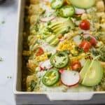 Chicken Enchiladas with Poblano Cream Sauce - web-2