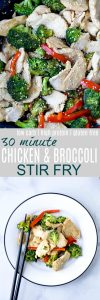 Chicken and Broccoli Stir Fry that takes 30 minutes to make and way healthier than take out. This easy stir fry recipe is low carb, high protein, gluten free and filled with asian flavor!