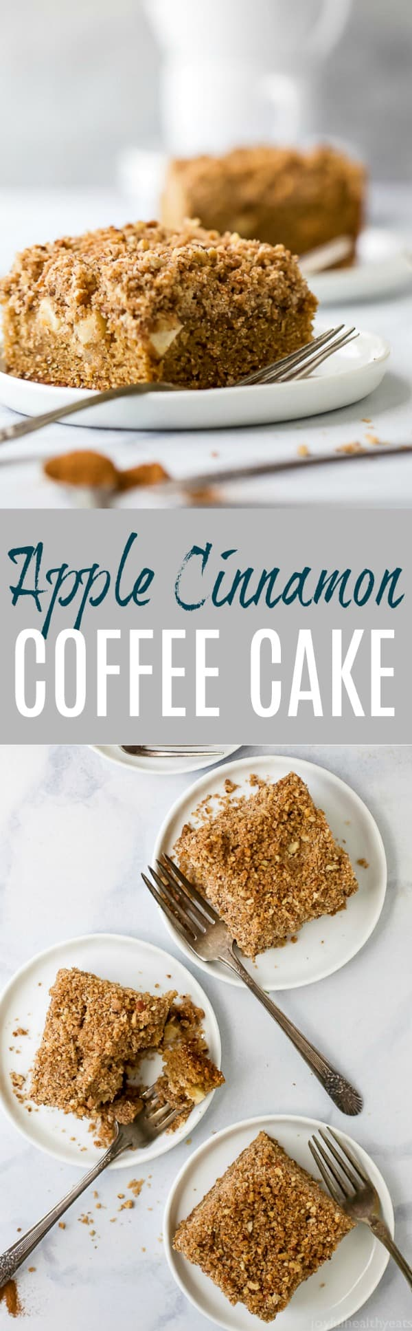 Pinterest image for Apple Cinnamon Coffee Cake