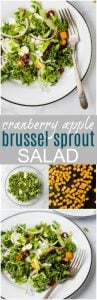 cranberry apple brussel sprout salad pinterest pin