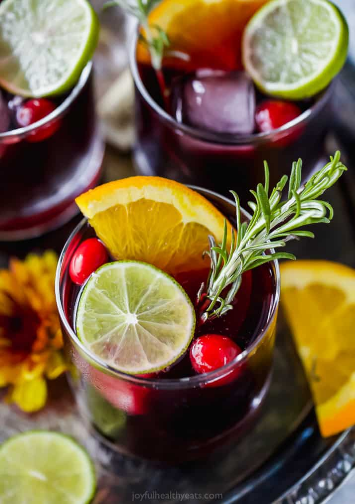 photo of holiday cranberry sangria
