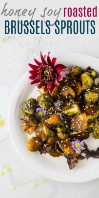 Honey Soy Roasted Brussels Sprouts | Easy Brussels Sprouts Recipe