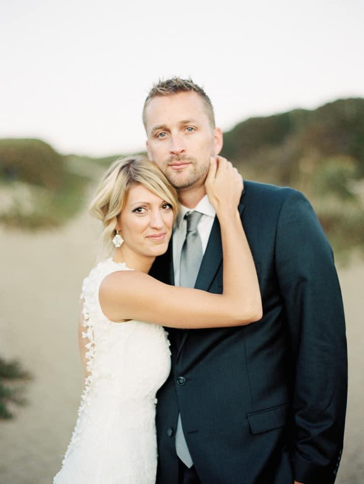 Krista and husband wedding portrait